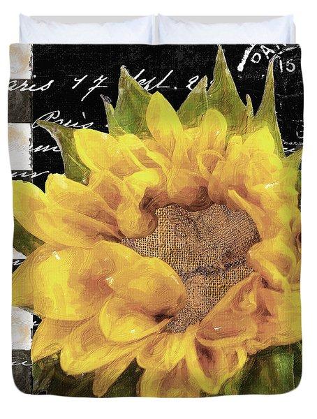 Late Summer Yellow Sunflowers II Duvet Cover
