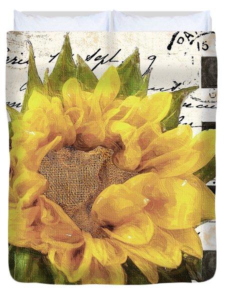 Late Summer Yellow Sunflowers Duvet Cover