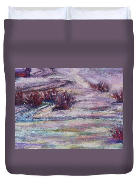 Late Winter Light Duvet Cover by Becky Chappell