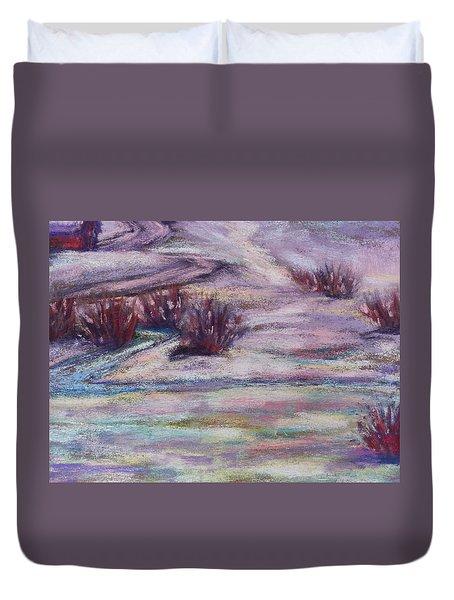 Late Winter Light Duvet Cover