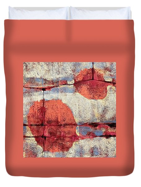 Latent Connections Duvet Cover by Maria Huntley