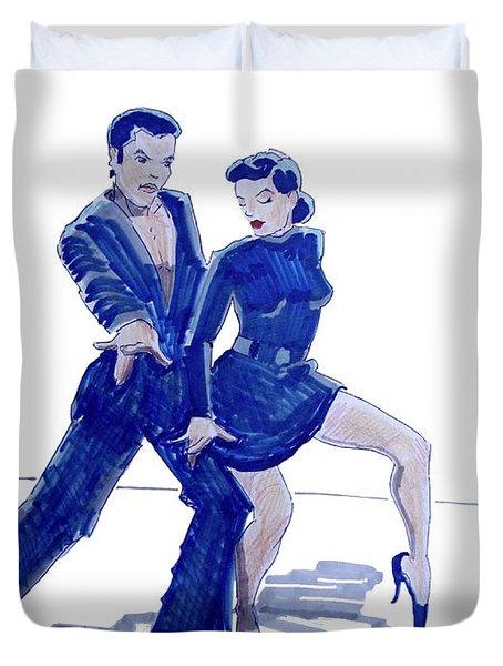 Latin Ballroom Duvet Cover