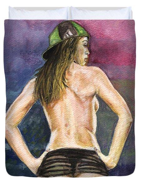 Latina Gangsta Girl 2  Duvet Cover