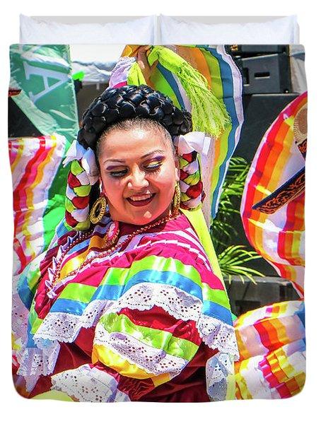 Latino Street Festival Dancers Duvet Cover