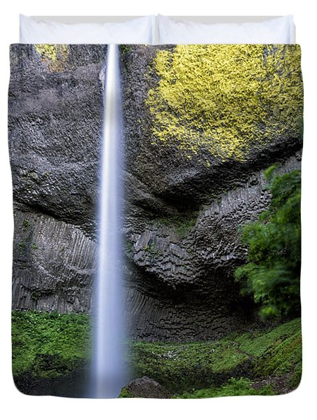 Latourell Water Fall Oregon Dsc05430 Duvet Cover