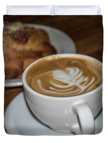 Latte And Scone Duvet Cover