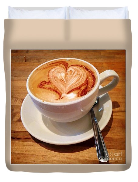 Latte Love Duvet Cover