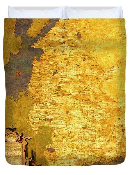 Latvia And Lithuania Duvet Cover