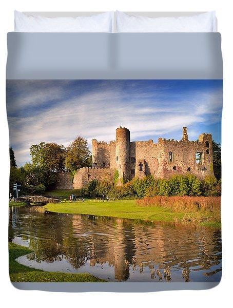 Laugharne Castle 1 Duvet Cover