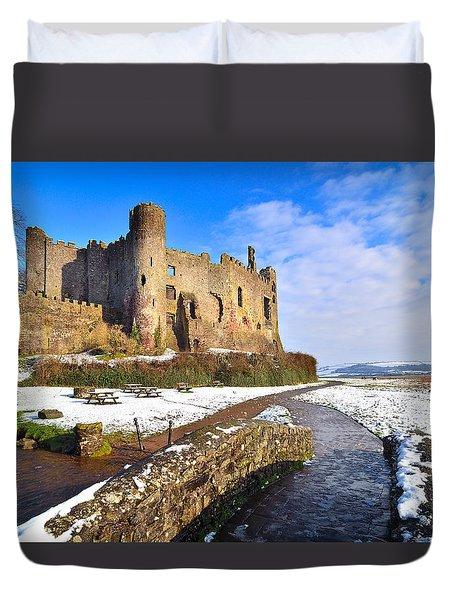 Laugharne Castle 2 Duvet Cover