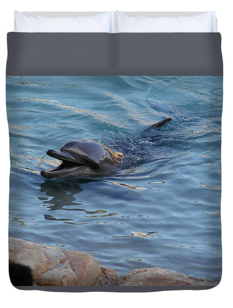 Laughing Dolphin Duvet Cover