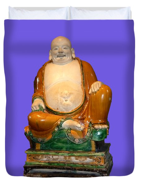 Laughing Monk Duvet Cover