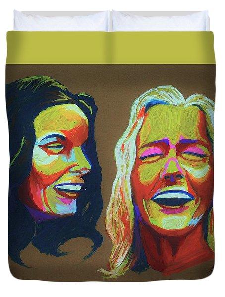 Laughter Duvet Cover
