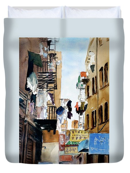 Laundry Day Duvet Cover by Tom Simmons