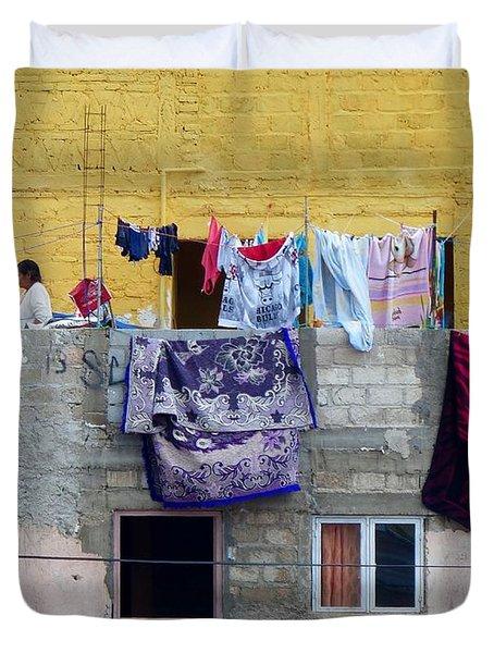 Laundry In Guanajuato Duvet Cover