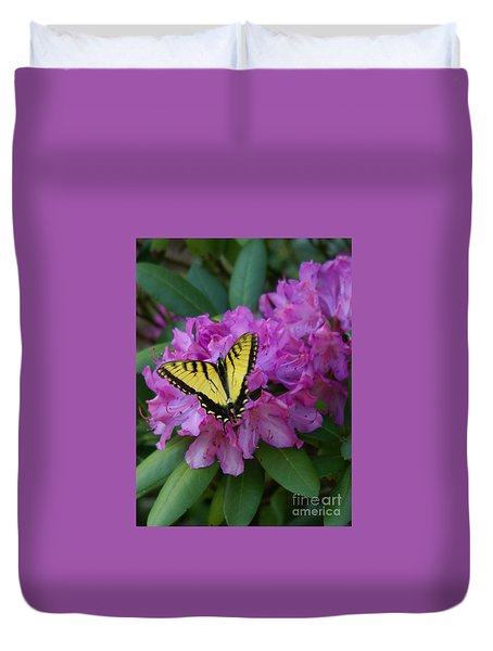 Laurel Bloom Butterfly Vertical Duvet Cover
