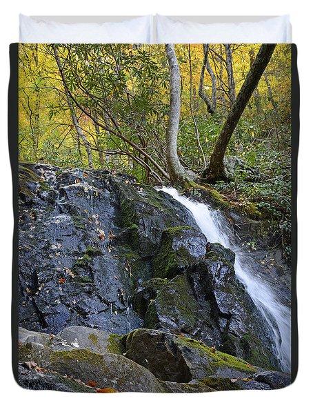 Laurel Falls Great Smoky Mountains National Park Duvet Cover