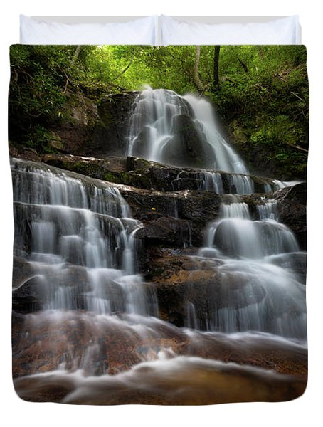 Laurel Falls Great Smoky Mountains Tennessee Duvet Cover