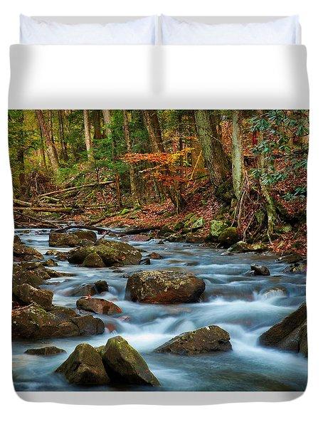 Laurel Fork In The Fall Duvet Cover