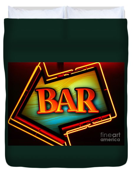 Laurettes Bar Duvet Cover