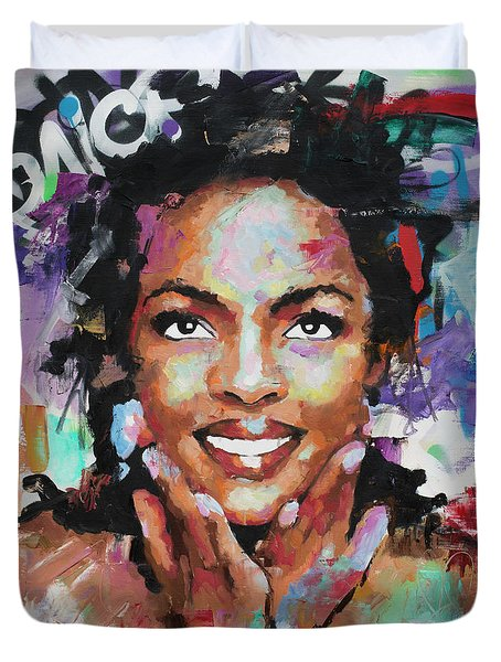 Lauryn Hill Duvet Cover by Richard Day