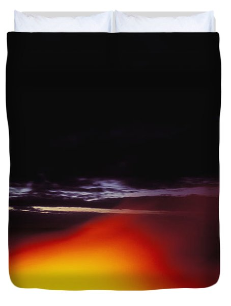 Lava And Moon Duvet Cover by William Waterfall - Printscapes