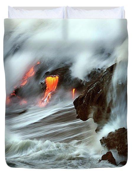 Lava And Ocean Duvet Cover
