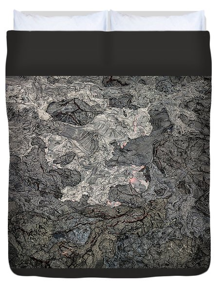 Duvet Cover featuring the photograph Lava Flow by M G Whittingham