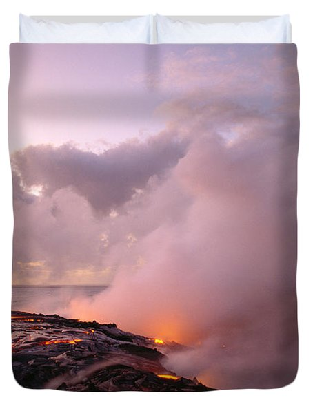 Lava Flows At Sunrise Duvet Cover by Peter French - Printscapes