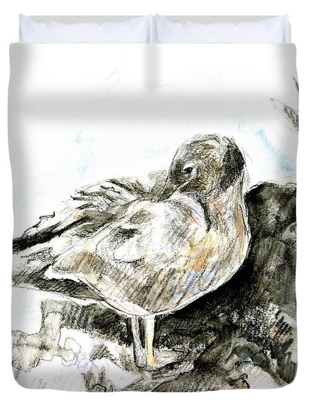Lava Gull Duvet Cover