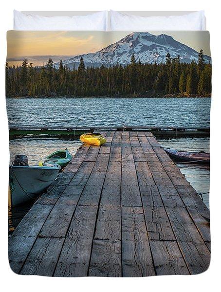 Lava Lake Evening  Duvet Cover