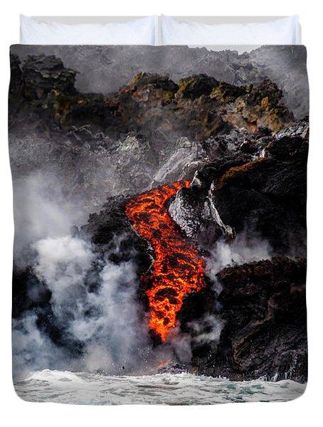 Lava Snake Duvet Cover