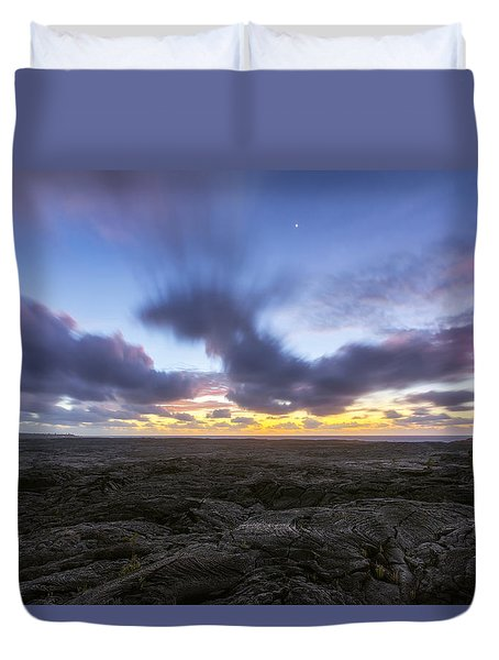 Duvet Cover featuring the photograph Lava Twilight by Ryan Manuel
