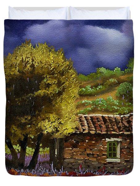 Lavanda Sotto Il Cielo Blu Duvet Cover