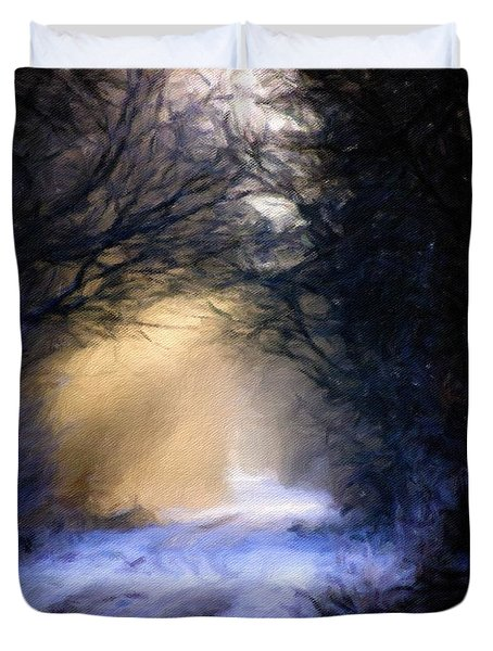 Lavander Snow  Duvet Cover