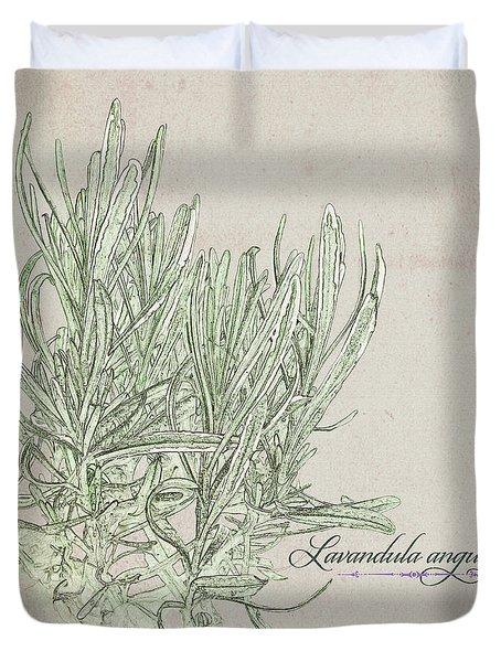 Lavandula Augustiflora Duvet Cover