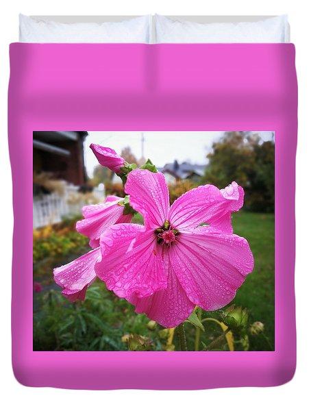 Lavatera Flower Duvet Cover