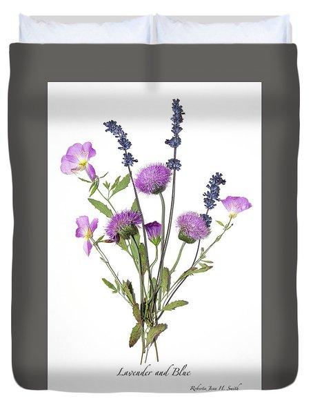 Lavender And Blue Duvet Cover
