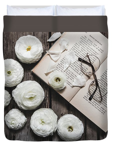 Duvet Cover featuring the photograph Lavender And Old Lace by Kim Hojnacki