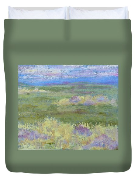 Lavender And Wheat Duvet Cover