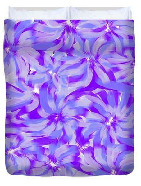 Lavender Blue 1 Duvet Cover by Linda Velasquez