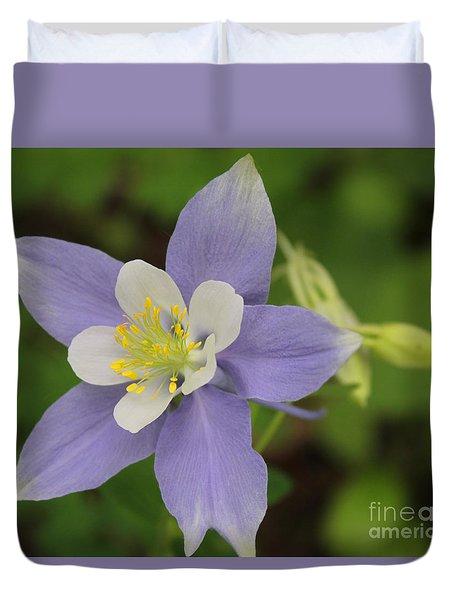 Lavender Blue Wild Columbine Duvet Cover