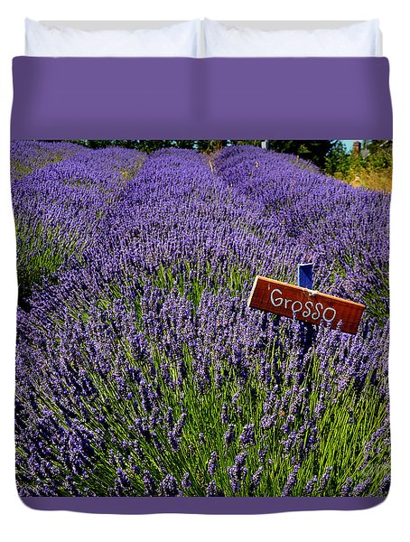 Duvet Cover featuring the photograph Lavender Bounty 2 by Tanya  Searcy