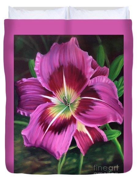 Lavender Daylily Duvet Cover