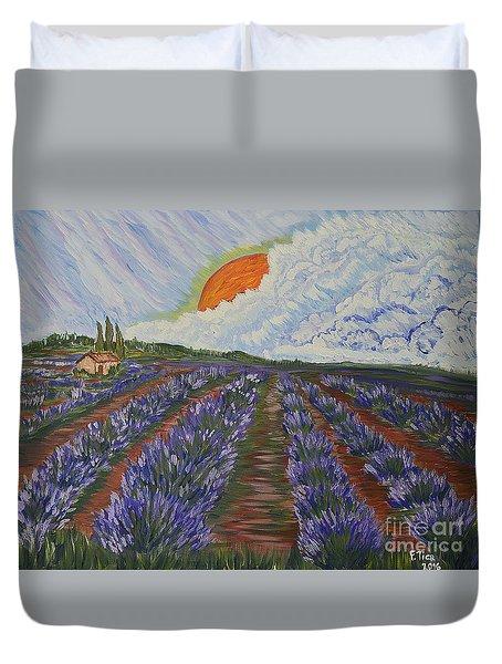 Lavender Dream Duvet Cover by Felicia Tica