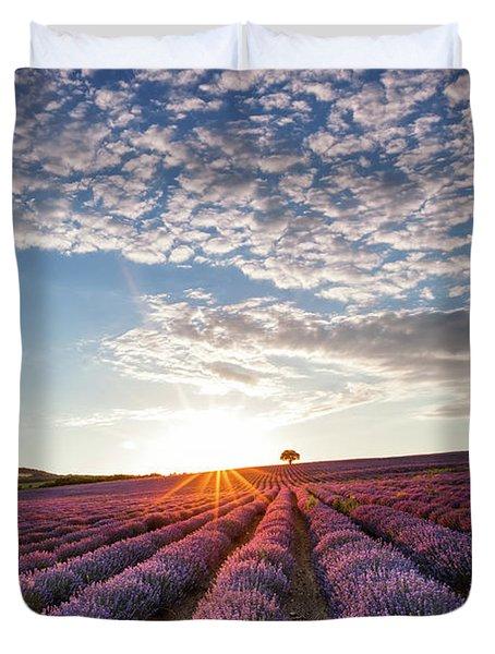 Lavender Duvet Cover by Evgeni Dinev