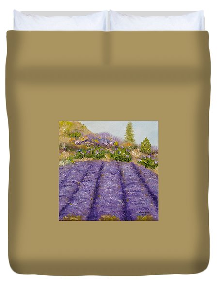 Lavender Field Duvet Cover by Judith Rhue