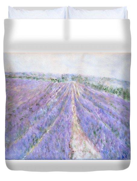 Lavender Fields Provence-france Duvet Cover