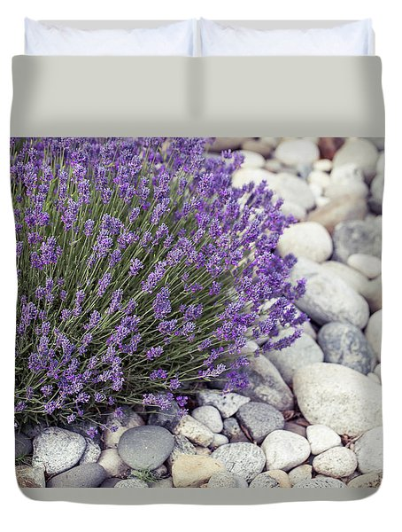 Lavender Flower In The Garden,park,backyard,meadow Blossom In Th Duvet Cover by Jingjits Photography