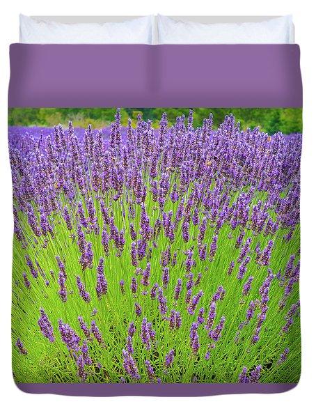 Lavender Gathering Duvet Cover